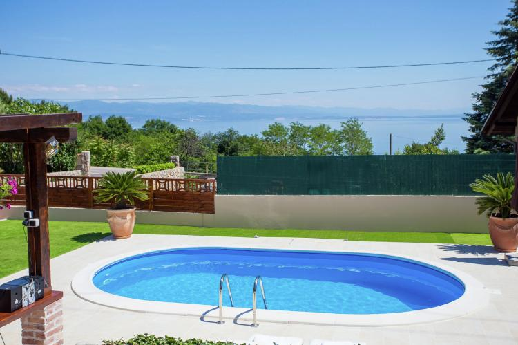 Holiday homeCroatia - Kvarner: Villa Olive with pool and sea view  [9]