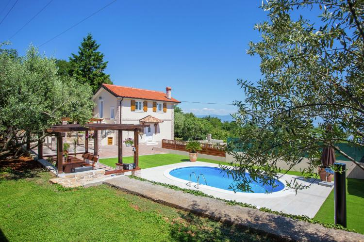 Holiday homeCroatia - Kvarner: Villa Olive with pool and sea view  [32]