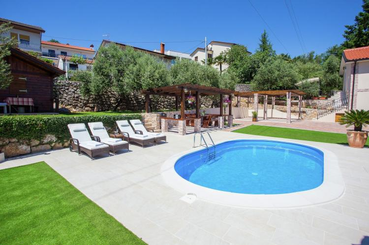 Holiday homeCroatia - Kvarner: Villa Olive with pool and sea view  [8]