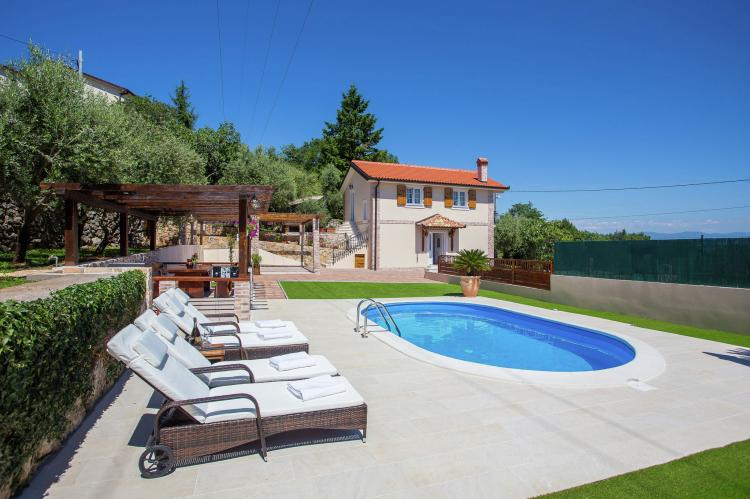 Holiday homeCroatia - Kvarner: Villa Olive with pool and sea view  [1]