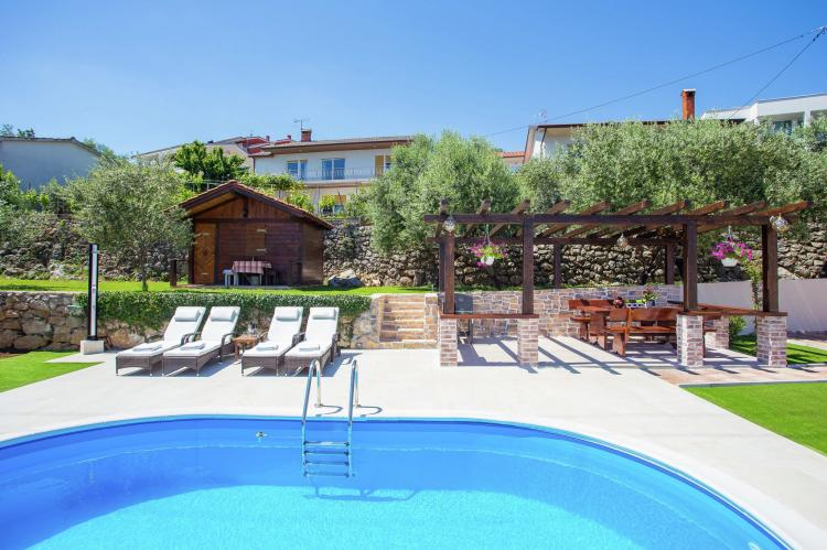 Holiday homeCroatia - Kvarner: Villa Olive with pool and sea view  [6]