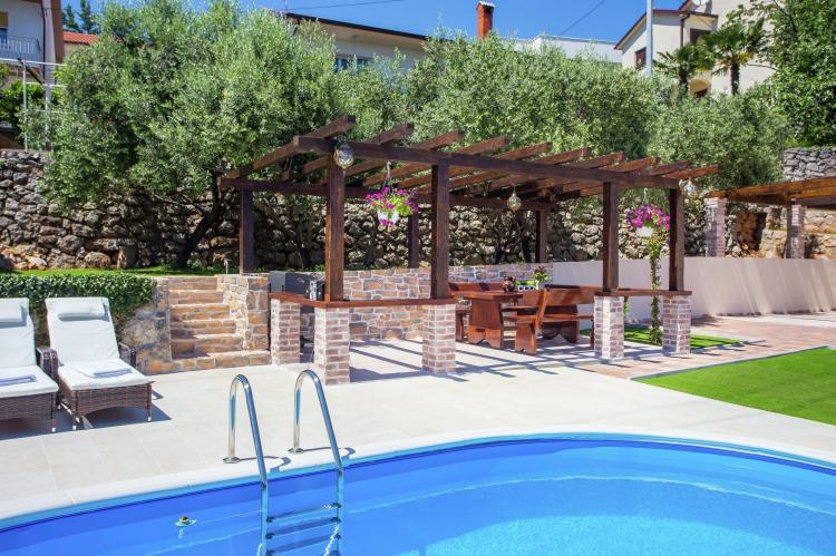 Holiday homeCroatia - Kvarner: Villa Olive with pool and sea view  [33]