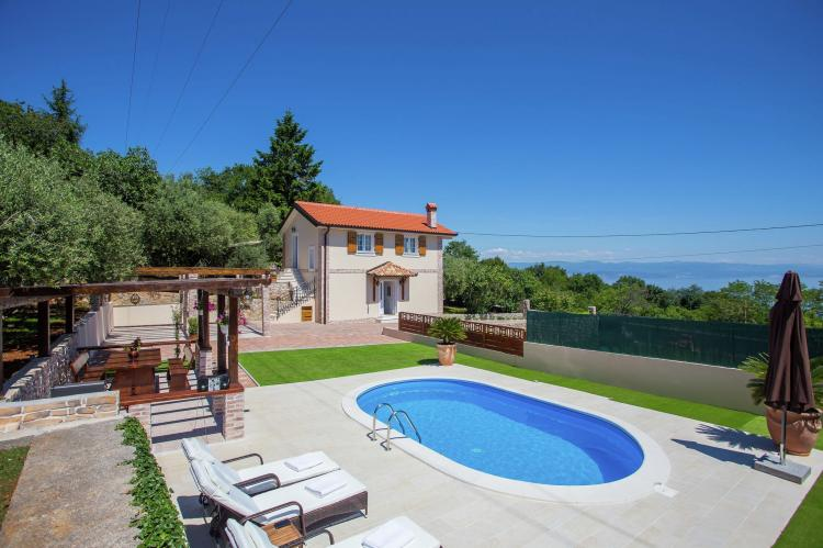 Holiday homeCroatia - Kvarner: Villa Olive with pool and sea view  [2]