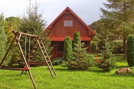 House among beautiful forests