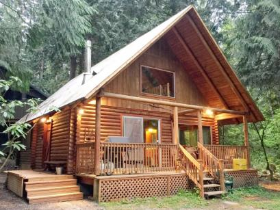 17MBR Rustic Family Cabin Hot Tub